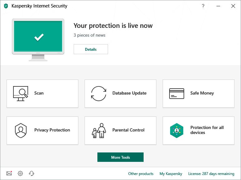Kaspersky Internet Security Scan